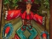 Jánošík - maľba na sklo