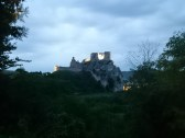 Castle Beckov to night