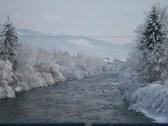 Rieka Bystrica v zimnom období