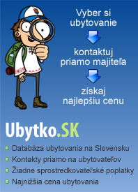 Ubytovanie na slovensku. Kontakty priamo na ubytovateľov.