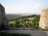 Výhľad z hradu Branč