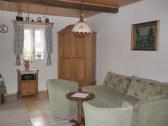 obývacia miestnosť s rozkladacím gaučom