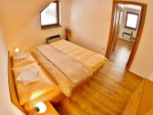 1 izbový apartmán spálňa