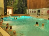 relaxačný bazén s 34°vodou