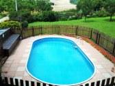 chalupa s bazenom na samote