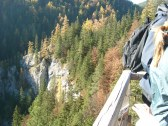 Jesenný výhľad z plošiny na Kačiansku dolinu