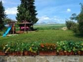 záhrada výhľad na Tatry