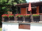 retro chata slnecne jazera