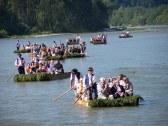 splav Dunajcom na pltiach