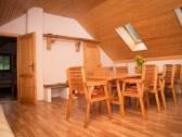 Horný apartmán - jedálenský kút
