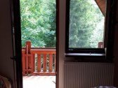pohľad  zo spálne s balkónom